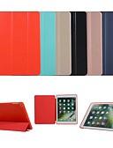 billige iPhone-etuier-tilfelle for eple ipad pro 9,7 / ipad mini 3/2/1 / ipad 4/3/2 automatisk søvn / våkne opp / magnetiske hele kroppen tilfeller solid farget hardt tpu / pu lær for ipad pro 9,7 '' / ipad (2017) / ipad