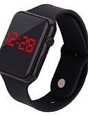 ราคาถูก นาฬิกาดิจิตอลสตรี-สำหรับผู้หญิง นาฬิกาดิจิตอล ดิจิตอล ยางทำจากซิลิคอน ดำ / สีขาว / ฟ้า หลอดไฟ LED นาฬิกาใส่ลำลอง ดิจิตอล ไม่เป็นทางการ แฟชั่น - สีดำ ขาว น้ำเงินท้องฟ้า