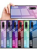 baratos Capinhas para Huawei-Capinha para huawei huawei nova 3i / huawei nova 4 / huawei nova 4e espelho capa traseira cor gradiente de vidro temperado