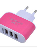 cheap Phone Cables & Chargers-LITBest Home Charger USB Charger EU Plug Normal 3 USB Ports 3.1 A 100~240 V for