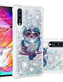 baratos Camisetas Femininas-Capinha Para Samsung Galaxy A6 (2018) / A6+ (2018) / Galaxy A7(2018) Antichoque / Liquido Flutuante / Transparente Capa traseira Animal / Glitter Brilhante Macia TPU