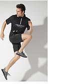 זול עור-בגדי ריקוד גברים שרוך אימונית הדפסת 3D ריצה הדרכה פעילה כושר וספורט חליפות בגדים שרוולים קצרים לבוש אקטיבי שמור על חום הגוף עמיד עמידות UV רך קשיח משוחרר