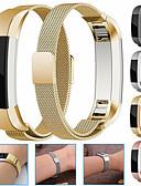 baratos Bandas de Smartwatch-Pulseira de pulseira de metal pulseira de aço inoxidável magnético de aço inoxidável magnético pulseira para fitbit alta / fitbit alta hr