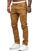 billiga Huvtröjor och sweatshirts till herrar-Herr Grundläggande EU / US-storlek Jogger / Chinos Byxor - Enfärgad Klassisk Bomull Svart Vit Rodnande Rosa M L XL
