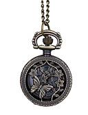 ราคาถูก นาฬิกาพก-สำหรับผู้ชาย นาฬิกาแบบพกพา นาฬิกาอิเล็กทรอนิกส์ (Quartz) น้ำตาล Creative ดีไซน์มาใหม่ นาฬิกาใส่ลำลอง ระบบอนาล็อก ดอกไม้ ไม่เป็นทางการ - สีน้ำตาล