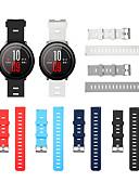 ราคาถูก วง Smartwatch-สายนาฬิกา สำหรับ Huami Amazfit A1602 / นาฬิกา Huami Amazfit Pace / Huami Amazfit Stratos Smart Watch 2/2S Xiaomi สายยางสำหรับเส้นกีฬา / หัวกลัดแบบคลาสสิก ยางทำจากซิลิคอน สายห้อยข้อมือ