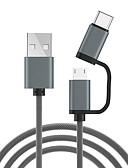 זול מטען כבלים ומתאמים-מיקרו USB / סוג כבל C 1.0m (3ft) 1 עד 2 כבל USB מתאם USB עבור xiaomi / huawei