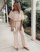 ราคาถูก จั๊มสูทและเสื้อคลุมสำหรับผู้หญิง-สำหรับผู้หญิง สีดำ สีแดงชมพู สีเหลือง ดินสอ ชุด Jumpsuits Onesie, สีพื้น S M L ฤดูใบไม้ผลิ ฤดูร้อน ตก