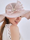 ราคาถูก หมวกสตรี-สำหรับผู้หญิง ลายบล็อคสี พิมพ์ดอกไม้ ตารางไขว้ ซึ่งทำงานอยู่ พื้นฐาน สไตล์น่ารัก-ดวงอาทิตย์หมวก ฤดูใบไม้ผลิ ฤดูร้อน ผ้าขนสัตว์สีธรรมชาติ สีเทา สีกากี