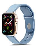 ราคาถูก วง Smartwatch-Tpugenuine สายหนังสำหรับแอปเปิ้ลดูวง 44 มิลลิเมตร / 40 มิลลิเมตร / 42 มิลลิเมตร / 38 มิลลิเมตรสร้อยข้อมือสายนาฬิกาข้อมือนุ่มสำหรับ iw atch เข็มขัด 4/3/2/1