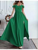 ราคาถูก เมกซิเดรส-สำหรับผู้หญิง สง่างาม สวิง แต่งตัว - ไหล่ตก, สีพื้น ขนาดใหญ่ สาย