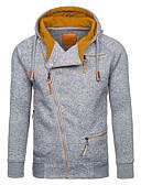 Χαμηλού Κόστους Αντρικές Μπλούζες με Κουκούλα & Φούτερ-Ανδρικά Βασικό Φούτερ με Κουκούλα - Γεωμετρικό