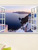 Χαμηλού Κόστους Άλλα καλώδια-Διακοσμητικά αυτοκόλλητα τοίχου - 3D Αυτοκόλλητα Τοίχου Τοπίο / 3D Σαλόνι / Υπνοδωμάτιο / Κουζίνα / Επανατοποθετείται