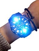 ราคาถูก นาฬิกาข้อมือหรูหรา-สำหรับผู้ชาย นาฬิกาแนวสปอร์ต นาฬิกาอิเล็กทรอนิกส์ (Quartz) หนัง ดำ 30 m เรืองแสง นาฬิกาใส่ลำลอง น่ารัก ระบบอนาล็อก วิบวับ ไม่เป็นทางการ - ขาว สีดำ สองปี อายุการใช้งานแบตเตอรี่