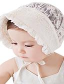 זול ילדים כובעים ומצחיות-מידה אחת לבן כובעים ומצחיות כותנה תחרה / מסוגנן אחיד / סרוג וינטאג' / פעיל / בסיסי בנות פעוטות / תינוק