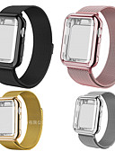 billige Andre kabler-smartwatch band for apple watch serie 4/3/2/1 apple milanese loop rustfritt stål band silikon tilfeller iwatcht stropp