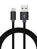 זול כבל & מטענים iPhone-1.0m (3ft) סוג-c כבל USB קלועה / טעינה מהירה כבל כבל USB עבור סמסונג huawei xiaomi Sony lenove htc נוקיה מוטורולה LG וכו '