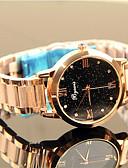זול שעונים-בגדי ריקוד נשים שעון מכני קווארץ מתכת אל חלד עמיד במים אנלוגי אופנתי - שחור זהב ורד