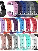 ราคาถูก วง Smartwatch-สายนาฬิกา สำหรับ Fitbit Charge 2 Fitbit สายยางสำหรับเส้นกีฬา / หัวกลัดแบบคลาสสิก ยางทำจากซิลิคอน สายห้อยข้อมือ