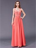 זול שמלות לילדות פרחים-גזרת A צווארון V עד הריצפה שיפון ערב רישמי שמלה עם חרוזים על ידי TS Couture®