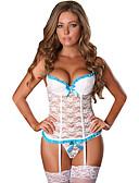 ราคาถูก ชุดเซ็กซี่-สำหรับผู้หญิง ลูกไม้ / โบว์ / ระบาย ขนาดพิเศษ ซูเปอร์เซ็กซี่ กางเกงชั้นในแบบถุงน่องขายาว เสื้อนอน ลายบล็อคสี / ลายพิมพ์ สีดำ ขาว ทับทิม M L XL