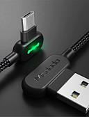 זול מטען כבלים ומתאמים-מיקרו USB כבל 1.8M (6ft) קלוע / תשלום מהיר ניילון מתאם כבל USB עבור סמסונג / LG / נוקיה