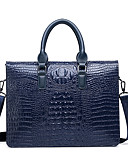cheap Women's Fur & Faux Fur Coats-Men's Zipper PU(Polyurethane) / PU Briefcase Crocodile Black / Brown / Blue / Snakeskin / Fall & Winter