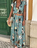 baratos Vestidos Longos-Mulheres Moda de Rua Elegante balanço Vestido - Patchwork Estampado, Geométrica Longo