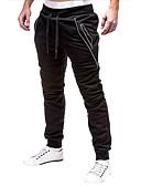זול מכנסיים ושורטים לגברים-בגדי ריקוד גברים בסיסי מכנסי טרנינג מכנסיים - אחיד שחור אפור כהה M L
