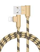 Χαμηλού Κόστους Καλώδιο και φορτιστές iPhone-2.0m (6.5ft) αστραπή στο καλώδιο usb πλεγμένο γρήγορο φορτίο καλώδιο usb από ανοξείδωτο ατσάλι / κράμα ψευδαργύρου για iphone ipad