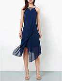 ราคาถูก Special Occasion Dresses-A-line คล้องไหล่ ไม่เท่ากัน ชิฟฟอน ค็อกเทลปาร์ตี้ แต่งตัว กับ เข็มกลัด โดย TS Couture®