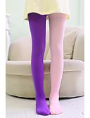 ราคาถูก ชุดชั้นใน&รองเท้าสำหรับผู้หญิง-5 ชุด เด็ก เด็กผู้หญิง หวาน สีพื้น Sexy เส้นใยสังเคราะห์ ถุงเท้า & ถุงน่อง สีเหลือง / สีบานเย็น / สีน้ำเงินกรมท่า ขนาดเดียว