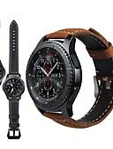 Χαμηλού Κόστους Δερμάτινο ρολόι-γνήσιο δερμάτινο ρετρό βραχιολάκι βραχιόλι λουράκι ρολόι για το ρολόι του γαλαξία samsung 46mm / gear s3 classic / frontier έξυπνο ρολόι