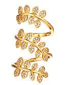 povoljno Kvarcni satovi-Žene Prsten Otvori Prsten Prilagodljivi prsten Kubični Zirconia 1pc Zlato Srebro 18K pozlaćeni Kamen Platinum Plated Moda Dar Dnevno Jewelry Cvjetni Tema