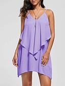 billige Uformelle kjoler-Dame Grunnleggende Skjede Kjole - Ensfarget Mini