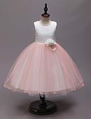 povoljno Kompletići za dječake-Djeca Djevojčice Aktivan slatko Kolaž Kolaž Bez rukávů Do koljena Haljina Blushing Pink