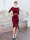 Χαμηλού Κόστους Φορέματα κοκτέιλ-Τρομπέτα / Γοργόνα Με Κόσμημα Ασύμμετρο Με πούλιες Σέξι / Κομψό Κοκτέιλ Πάρτι / Αργίες Φόρεμα 2020 με Πούλιες / Ζώνη / Κορδέλα