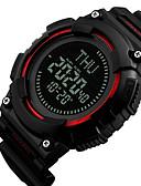 Χαμηλού Κόστους αλφαβητάρι-SKMEI®1259 Αντρες γυναίκες Έξυπνο ρολόι Android iOS WIFI Αδιάβροχη Αθλητικά Μεγάλη Αναμονή Smart Πυξίδα Χρονογράφος Ημερολόγιο Διπλές Ζώνες Ώρας
