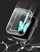 baratos Caso Smartwatch-Tpu transparente para apple watch series 3 2 1 38mm 42mm 360 caso de protetor de tela clara completa para iwatch 4 44mm 40mm