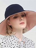 Χαμηλού Κόστους Καπέλα του μπέιζμπολ-Γυναικεία Συνδυασμός Χρωμάτων Ενεργό Βασικό χαριτωμένο στυλ Βαμβάκι Καπέλο ηλίου Όλες οι εποχές Μαύρο Βαθυγάλαζο Κρασί
