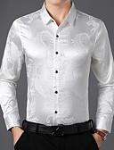 billige Herreskjorter-Skjorte Herre - Dyr Navyblå / Langermet