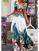 ราคาถูก เมกซิเดรส-สำหรับผู้หญิง สวิง แต่งตัว ลายดอกไม้ ขนาดใหญ่ คอวีลึก