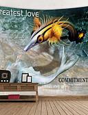 זול מקרה Smartwatch-נושאי גן / נושא אגדות קיר תפאורה 100% פוליאסטר מודרני וול ארט, קיר שטיחי קיר תַפאוּרָה