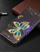 ราคาถูก กางเกงผู้หญิง-Case สำหรับ Samsung Galaxy Galaxy A7(2018) / Galaxy A10 (2019) / Galaxy A30 (2019) Wallet / Card Holder / with Stand ตัวกระเป๋าเต็ม Butterfly Hard หนัง PU