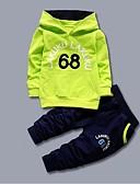 povoljno Obiteljski komplet odjeće-Djeca Dječaci Aktivan Dnevno Izlasci Print Dugih rukava Regularna Pamuk Komplet odjeće žuta