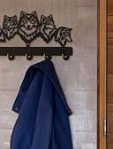 저렴한 남아 스웨터&가디건-늑대 장식 벽걸이 늑대 가족 옷 벽 후크 코트 랙