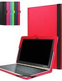 זול מגנים לאייפון-מגן עבור Lenovo Lenovo Yogabook עמיד בזעזועים / עם מעמד / אולטרה דק כיסוי מלא אחיד קשיח עור PU