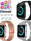 baratos Smart watch-Z60 smart watch para homens pulseira de fitness ip67 à prova d 'água com slot para cartão sim mulheres relógio smartwatch para apple ios android telefone