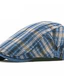 ราคาถูก หมวกสุภาพบุรุษ-ทุกเพศ ลายแถบ ฝ้าย ผ้าลินิน 1930s-หมวกปีกกว้าง ทุกฤดู สีน้ำเงิน ขาว ไวน์