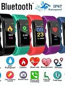 baratos Smart watch-Relógio inteligente Digital Estilo Moderno Esportivo Silicone 30 m Impermeável Monitor de Batimento Cardíaco Bluetooth Digital Casual Ao ar Livre - Preto Roxo Verde
